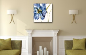 Contemporary Iris in room.