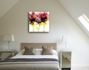 Coral Blossoms in Guest Room