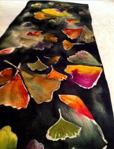 Ginkgo Leaves Silk Scarf