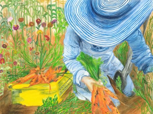 gardening in blue 16x2072dpi